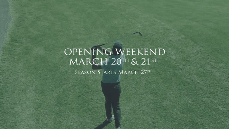 Opening Weekend March 20th and 21st
